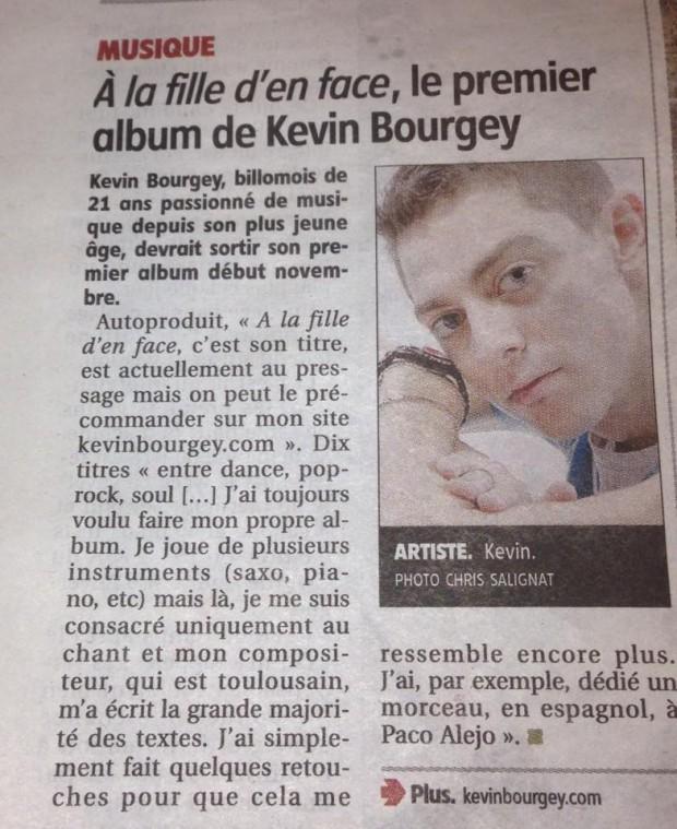 Article La Montagne Kévin Bourgey Octobre 2014