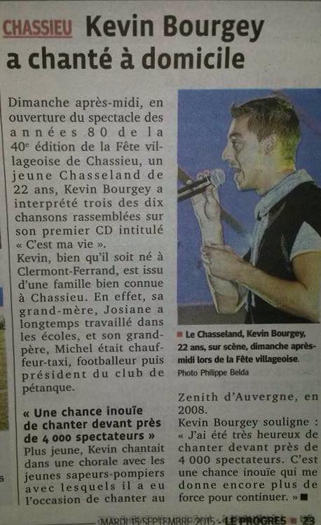 Article Kévin Bourgey Le Progrès